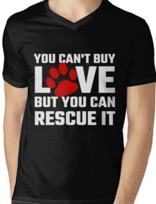 You Can Not Buy Love But You Can Rescue It Mens V-Neck T-Shirt