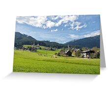Gosau, Salzkammergut Greeting Card