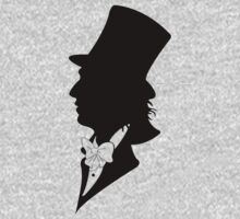 Willy Wonka Silhouette by Luc Kersten