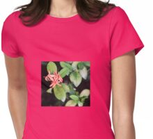 Tropical Exotic Coral Flower, Kew Gardens, London Womens Fitted T-Shirt