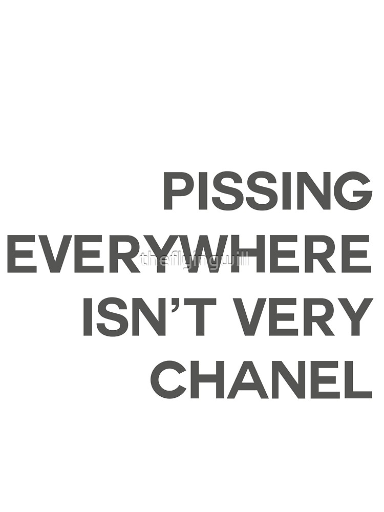 PISSING CHANEL by William Åsgårdh