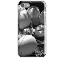 Life Finds a Way (black and white) iPhone Case/Skin