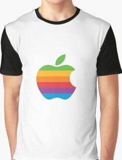 Apple Logo Rainbow Graphic T-Shirt