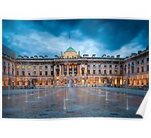 Somerset House Fountains Poster