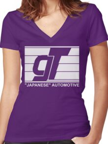 gt japanese auto Women's Fitted V-Neck T-Shirt