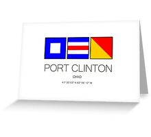 Port Clinton Ohio Nautical Flag Art Greeting Card