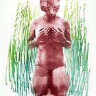 true nature nr 1 cat woman art by Veera Pfaffli