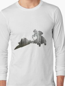 Star Wars Scout Trooper on Speeder Bike on Endor Long Sleeve T-Shirt