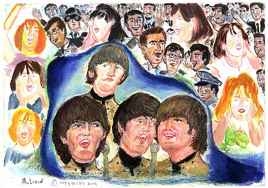 BEATLES Beatles shea stadium by LIVING
