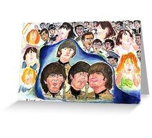 BEATLES Beatles shea stadium Greeting Card