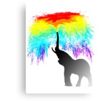 Elephant Rainbow Canvas Print