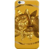 ancient greek golden mask iPhone Case/Skin