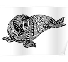 Walrus Zentangle Poster