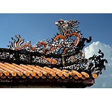 Fancy Dragon Roof Photographic Print