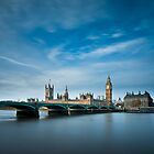 Westminster Bridge and Parliament by JzaPhotography
