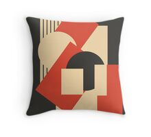 Geometrical abstract art deco mash-up 1 Throw Pillow