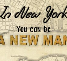 New York - New Man Sticker