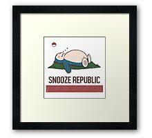 Snooze Republic Framed Print