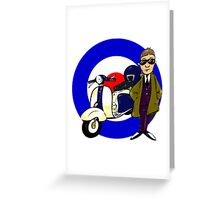 Mod,Scooter and Target Greeting Card