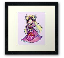 Wind Waker Zelda - Colored Pencil Framed Print