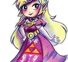 Wind Waker Zelda - Colored Pencil by SaradaBoru