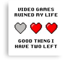 Video Game Life Canvas Print