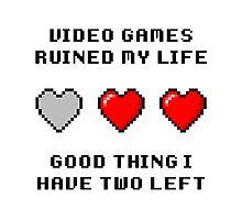 Video Game Life Photographic Print