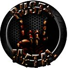 Rusty Metal Band Logo (Circle) by osyran
