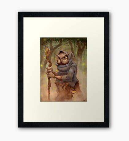 Ugla the Owl Wizard Framed Print