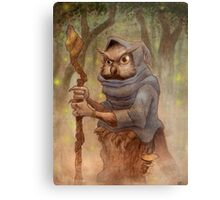 Ugla the Owl Wizard Metal Print