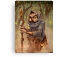 Ugla the Owl Wizard Canvas Print