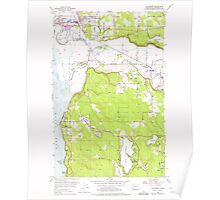 USGS Topo Map Washington State WA Stanwood 244000 1956 24000 Poster