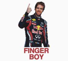 Finger Boy - Sebastian Vettel by brilliantbutton