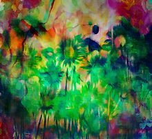 Tye Dyed Garden by Darlene Lankford Honeycutt