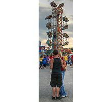 Kissing on the Midway Photographic Print