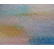 abstract landscape texture watercolor Photographic Print