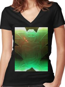 Jenny Death - Death Grips - Powers That B - Shirt - Poster Women's Fitted V-Neck T-Shirt