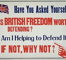 Have you asked yourself 1 Is British freedom worth defending 2 Am I helping to defend it 3 If not why not by wetdryvac