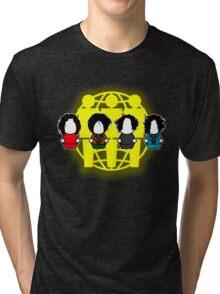 Many Shades of White - Logo Tri-blend T-Shirt