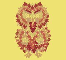 Fall Owl - Leafy Camo Kids Clothes