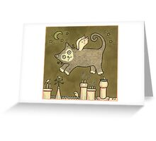 Cat Dreaming Greeting Card
