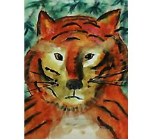 The big cat, watercolor Photographic Print