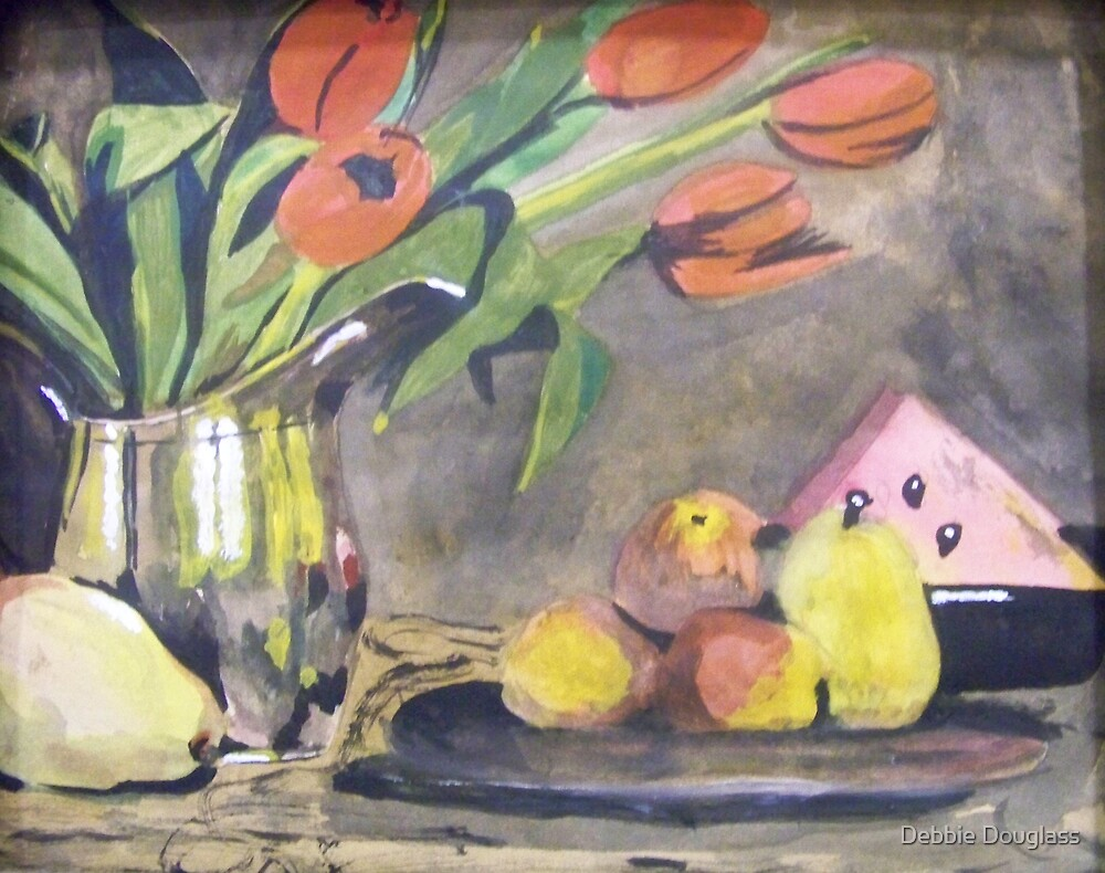 Fruit and Tulips by Debbie Douglass