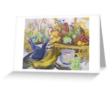 Still Life and Coffee Greeting Card
