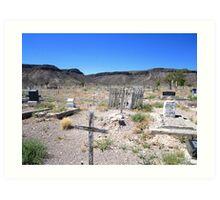 Last Rites In The Deserts Of Nevada Art Print