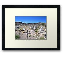 Last Rites In The Deserts Of Nevada Framed Print
