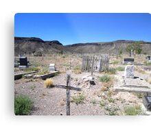 Last Rites In The Deserts Of Nevada Metal Print