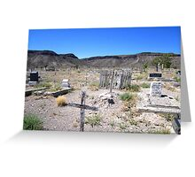 Last Rites In The Deserts Of Nevada Greeting Card