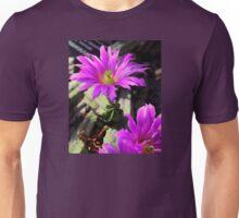 Pretty Purple Cactus Flowers Unisex T-Shirt