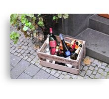 Wine basket Canvas Print